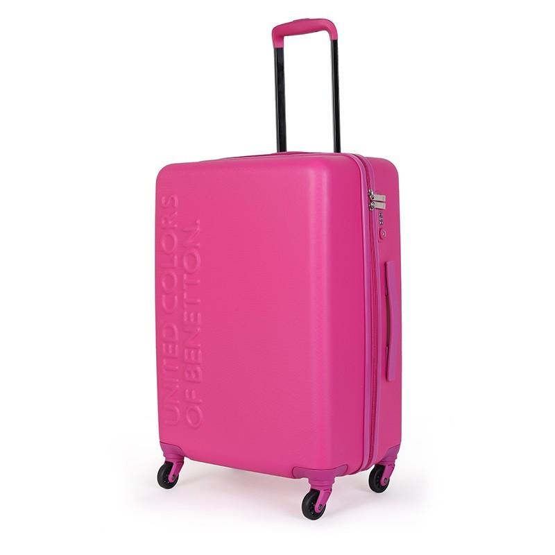 Cestovný kufor United Colors of Benetton Timis L - ružová