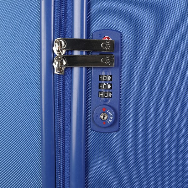 Cestovný kufor United Colors of Benetton Timis - modrá