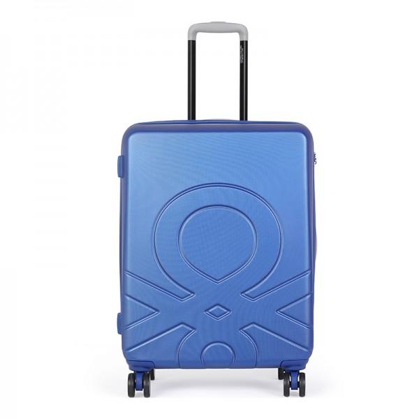 Cestovný kufor United Colors of Benetton Kanes M - modrá