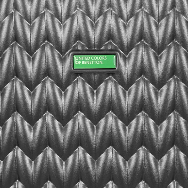 Cestovný kufor United Colors of Benetton Rider M - tmavo šedá