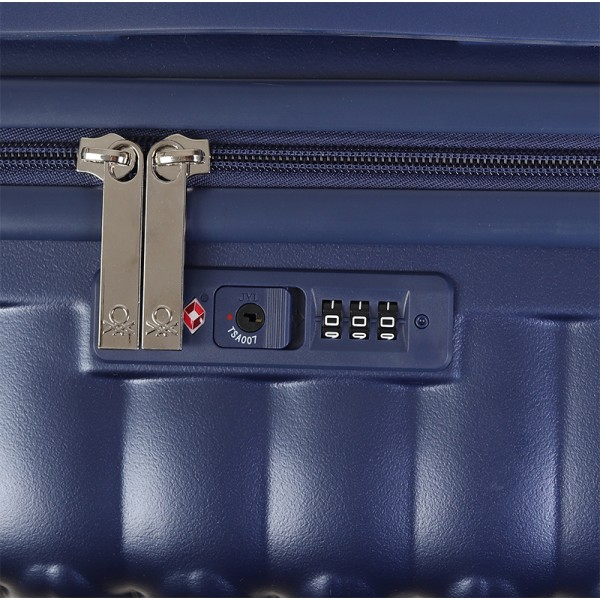 Cestovný kufor United Colors of Benetton Rider M - modrá