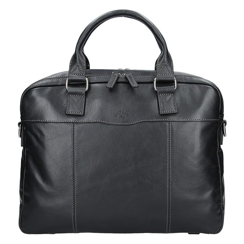 Pánska kožená taška cez rameno Katana Toronto - čierná