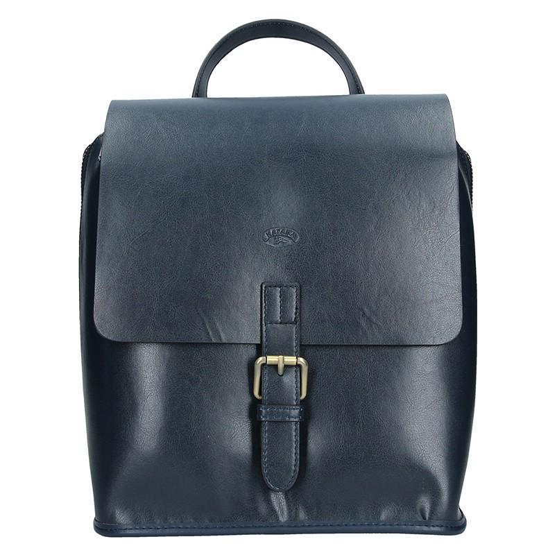 Elegantní dámský kožený batoh Katana Petra - tmavo modrá