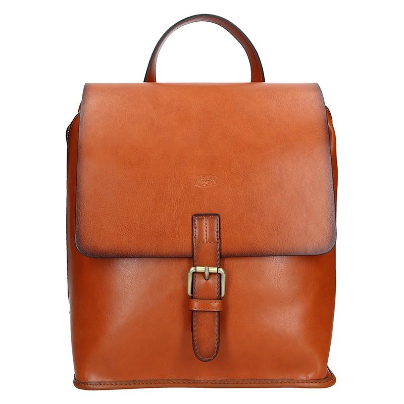 Elegantní dámský kožený batoh Katana Petra - svetlo hnedá