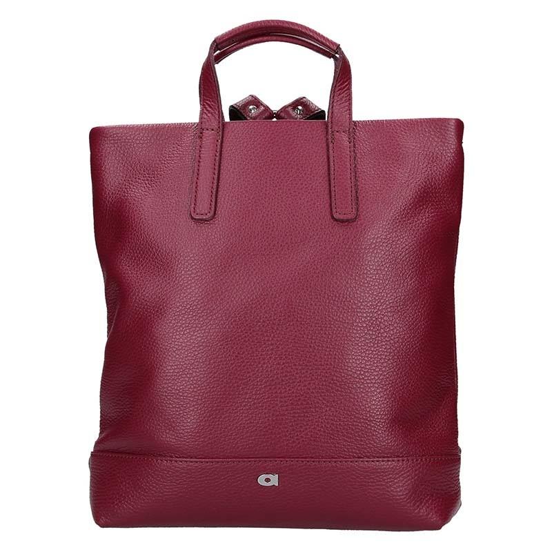 Dámska kožená batôžky-kabelka Daag Marcela - vínová