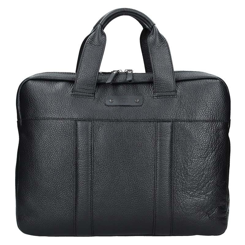 Luxusná pánska kožená taška Daag Proven - čierna