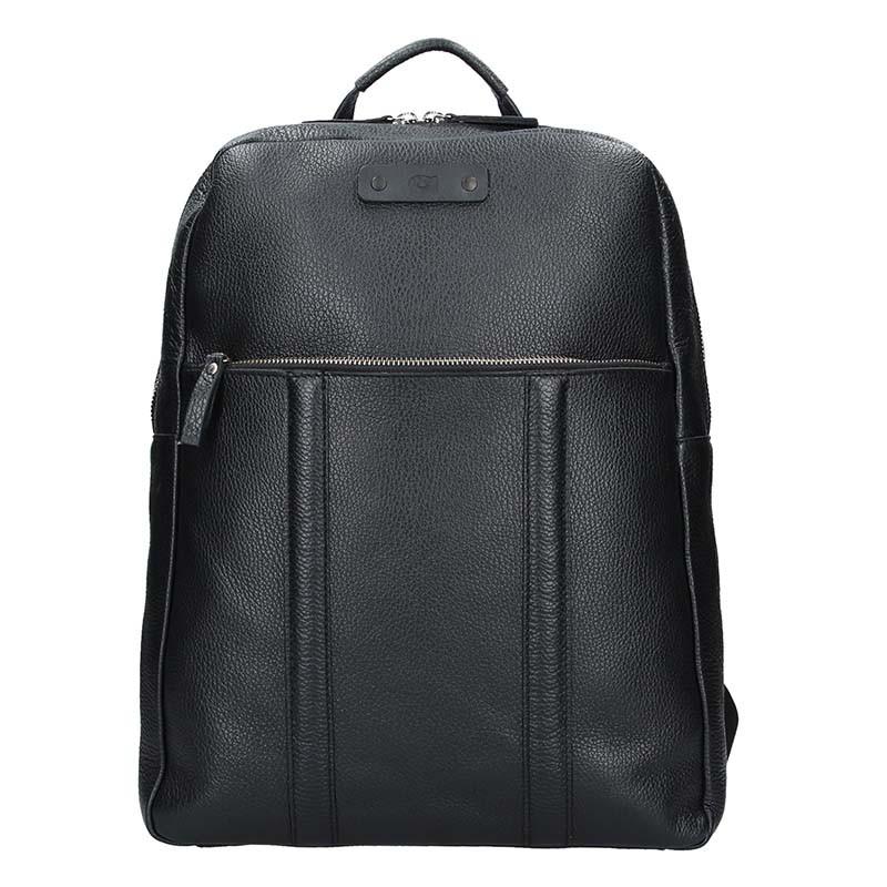 Pánsky kožený batoh Daag Boston - čierna