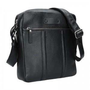 Pánska kožená taška Daag Agrel - čierna
