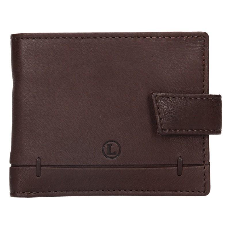 Pánska kožená peňaženka Lagen Břetislav - hnedá