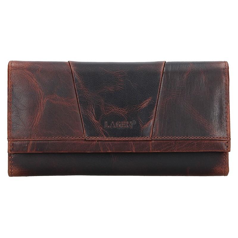 Dámska kožená peňaženka Lagen Anna - hnedá