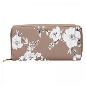 Dámska peňaženka Fiorelli Anouk - hnedo-bielá