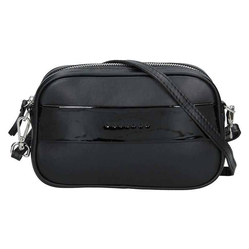 Trendy dámska kožená crossbody kabelka Facebag Ninas - černá