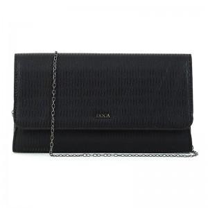 Dámska listová kabelka Doca 15365 - čierna