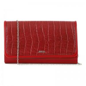 Dámska listová kabelka Doca 15355 - červená