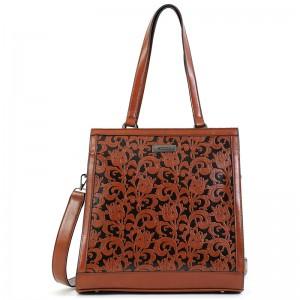 Dámska kabelka Doca 15141 - hnedá