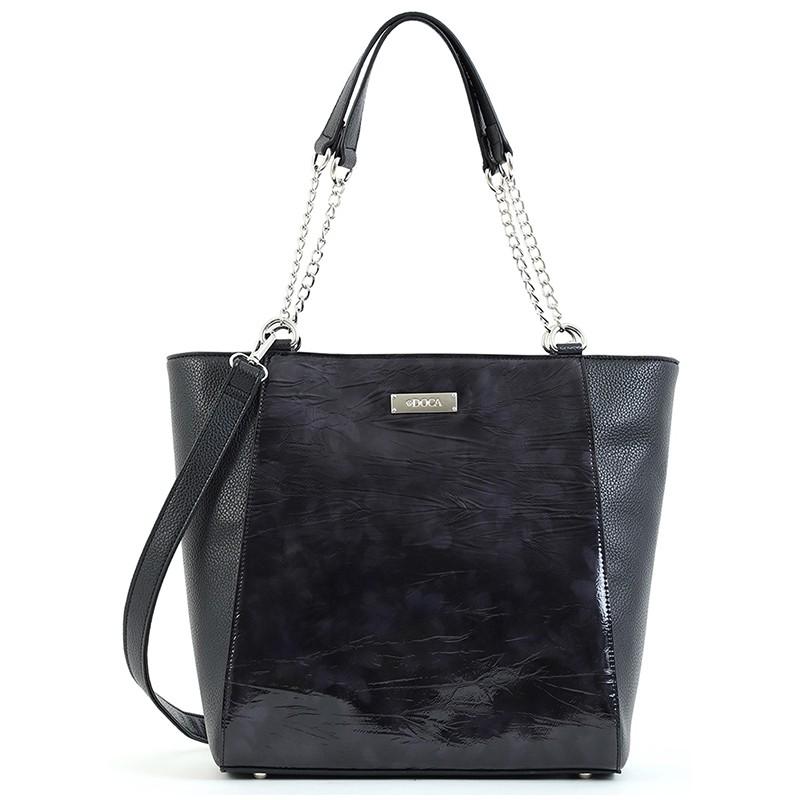 Dámska kabelka Doca 15530 - čierna.
