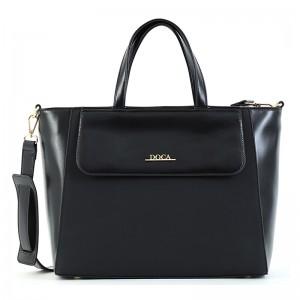 Dámska kabelka Doca 15495 - čierna