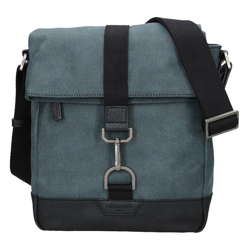Pánska taška cez rameno Hexagona Folga - modrá