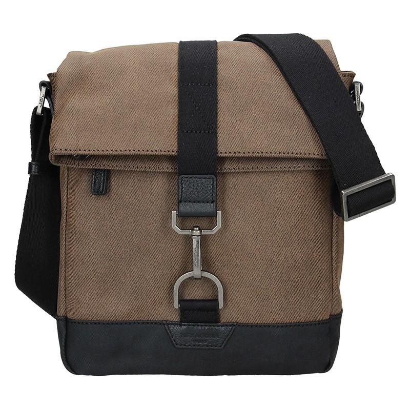 Pánska taška cez rameno Hexagona Folga - hnedá