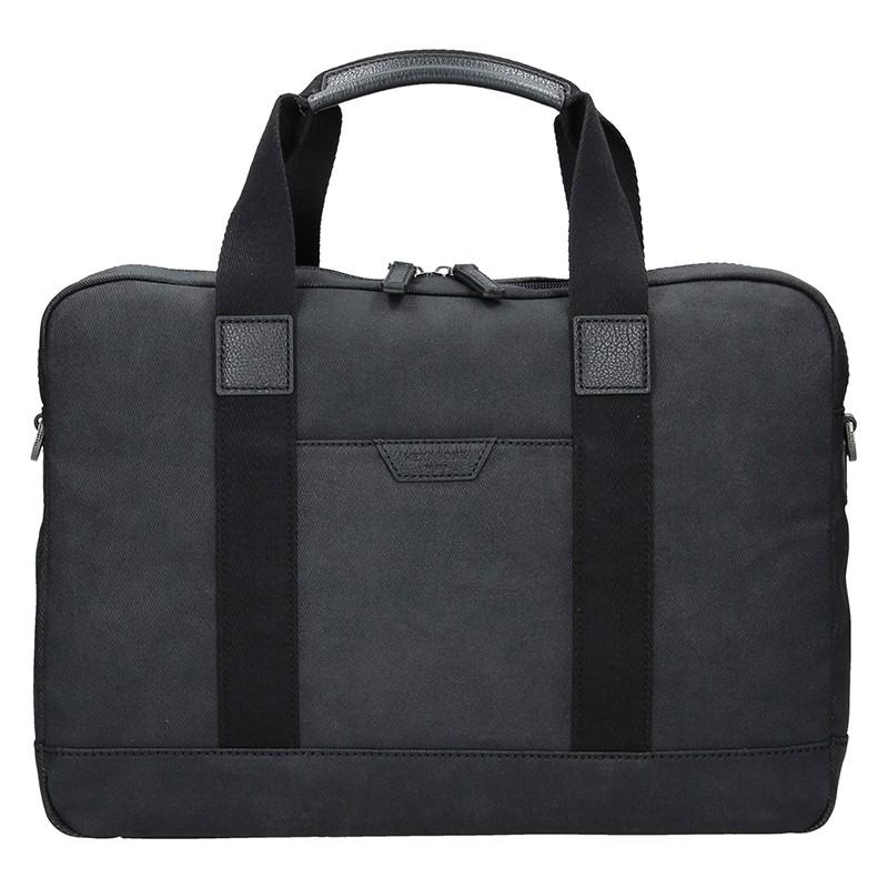 Pánska taška cez rameno Hexagon Dyton - čierná