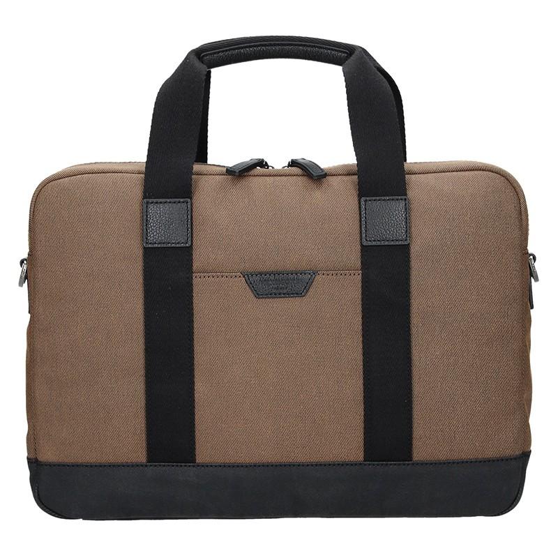 Pánska taška cez rameno Hexagon Dyton - hnedá
