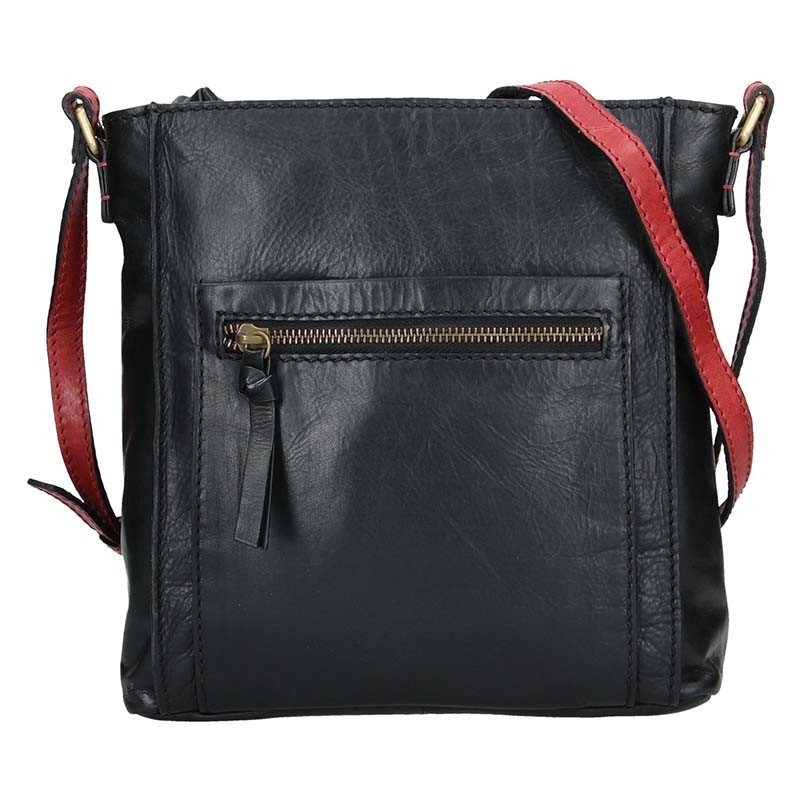 Dámska crosbody kabelka Lagen Paula - čierno-červená