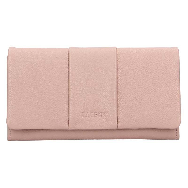Dámska kožená peňaženka Lagen Nicol - ružová