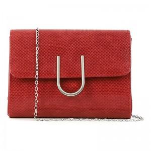 Dámska listová kabelka Doca 15360 - červená