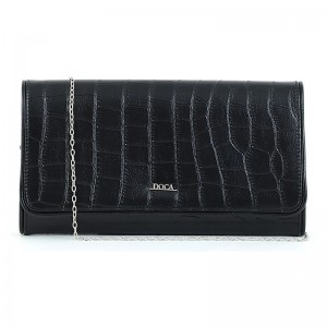 Dámska listová kabelka Doca 15373 - čierna