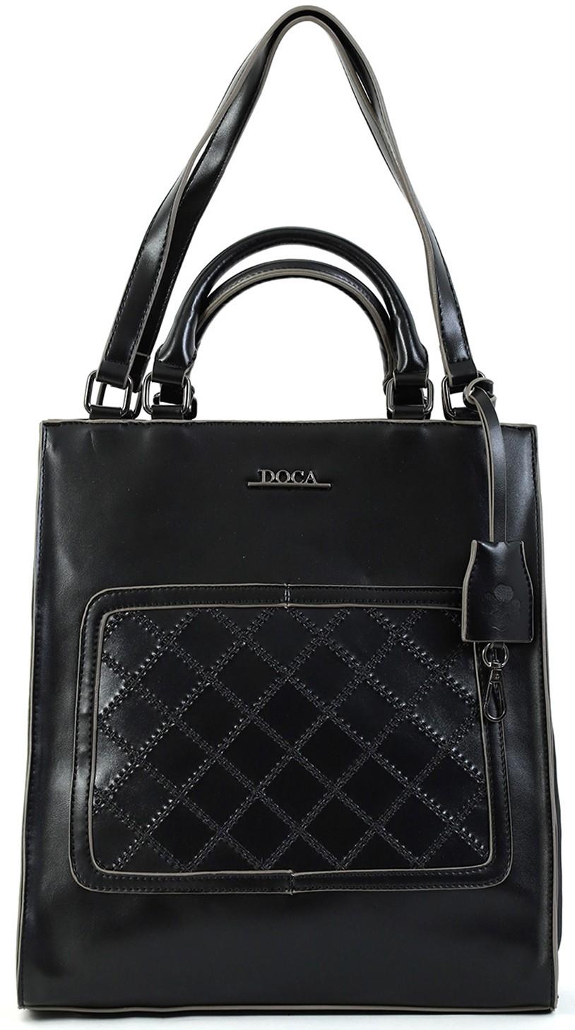 Dámska kabelka Doca 15249 - čierna.
