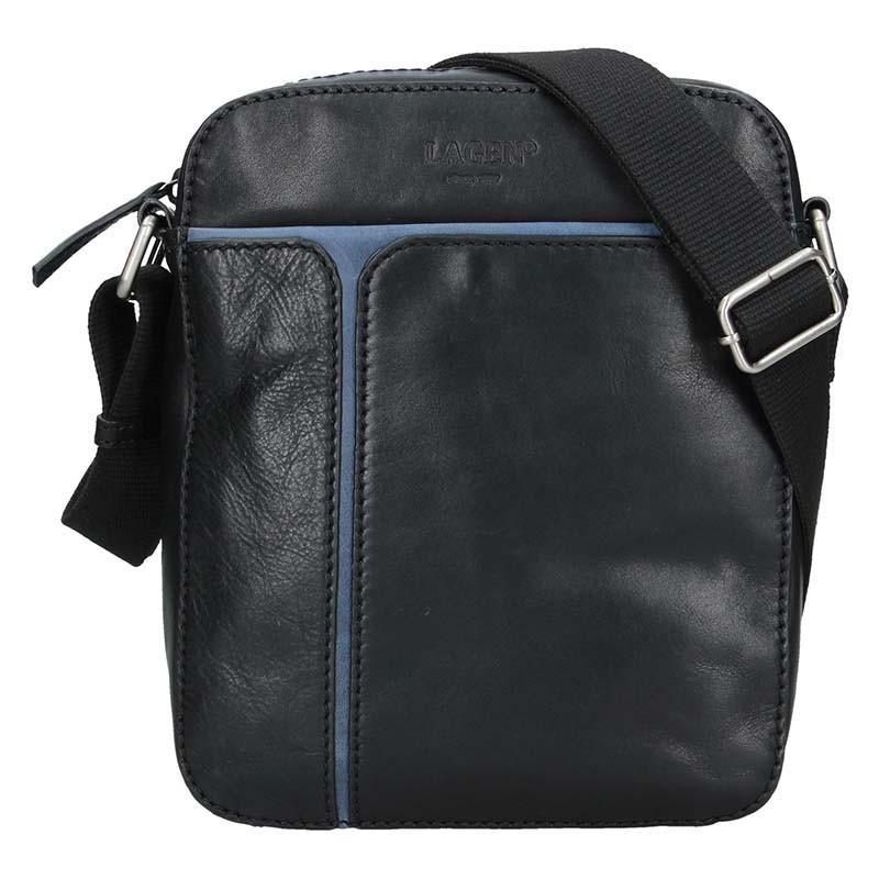 Pánska taška cez rameno Lagen Xerxes - čierno-modrá