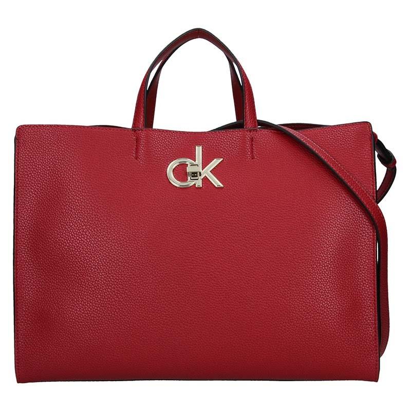 Dámska kabelka Calvin Klein Edisa - vínová