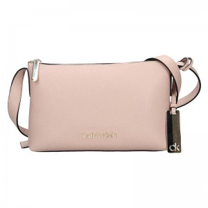 Dámska crossbody kabelka Calvin Klein Gweny - ružová