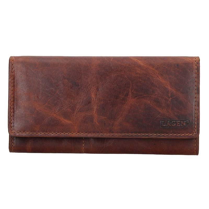 Dámska kožená peňaženka Lagen Inga - hnedá