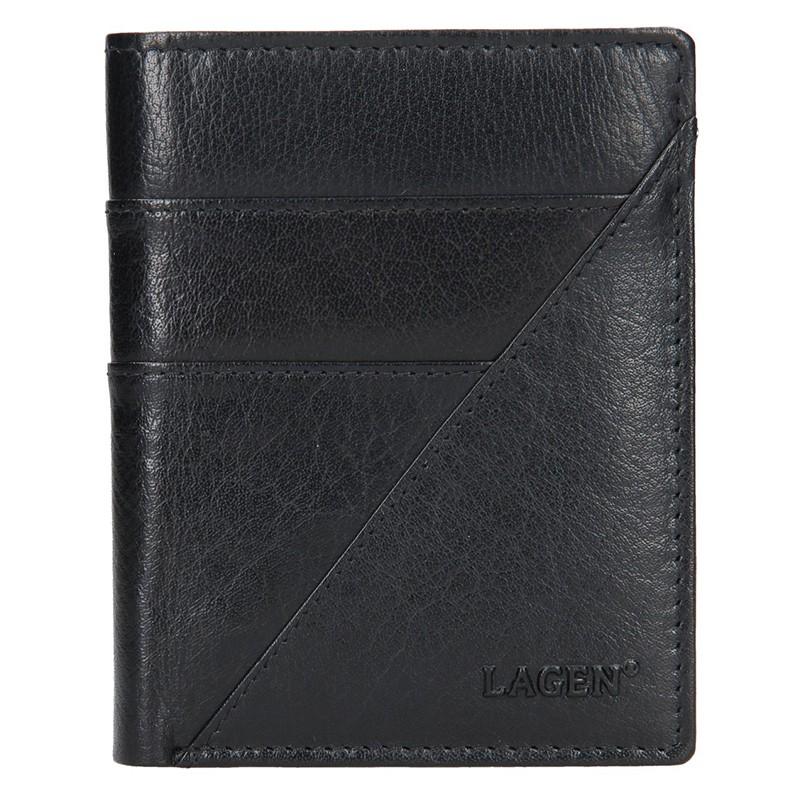 Pánska kožená peňaženka Lagen Liom - čierna