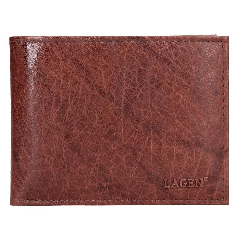 Pánska kožená peňaženka Lagen Rick - hnedá