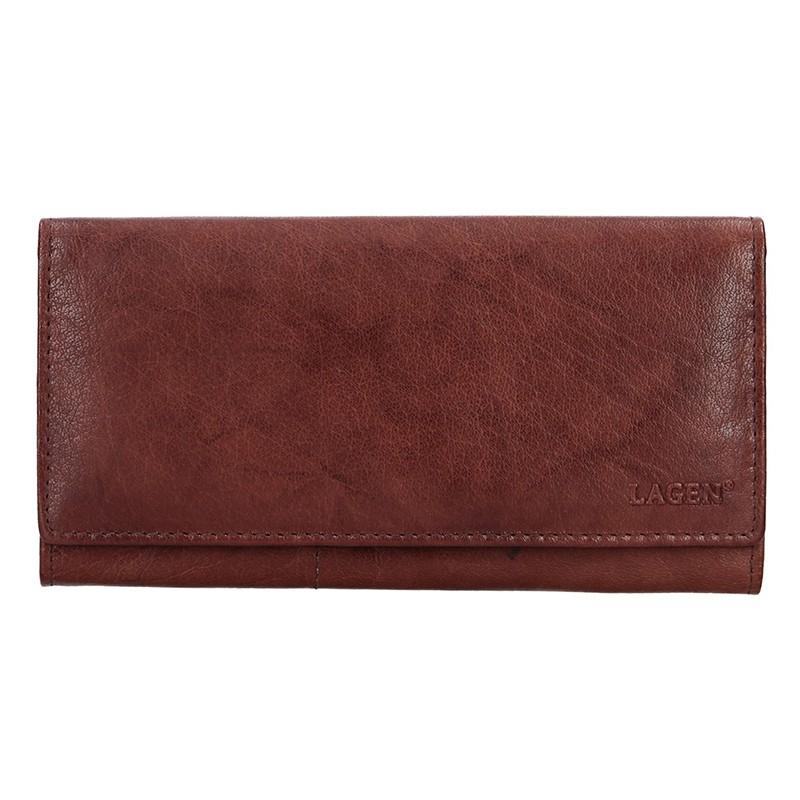 Dámska kožená peňaženka Lagen Inge - hnedá