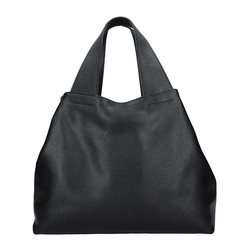 Dámska kožená kabelka Facebag Sofi - čierna