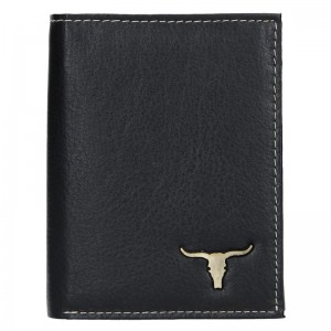 Pánska kožená peňaženka Wild Buffalo Rudolf- čierna