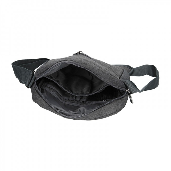 Pánska taška cez rameno Enrico Benetti Filip - šedo-čierna