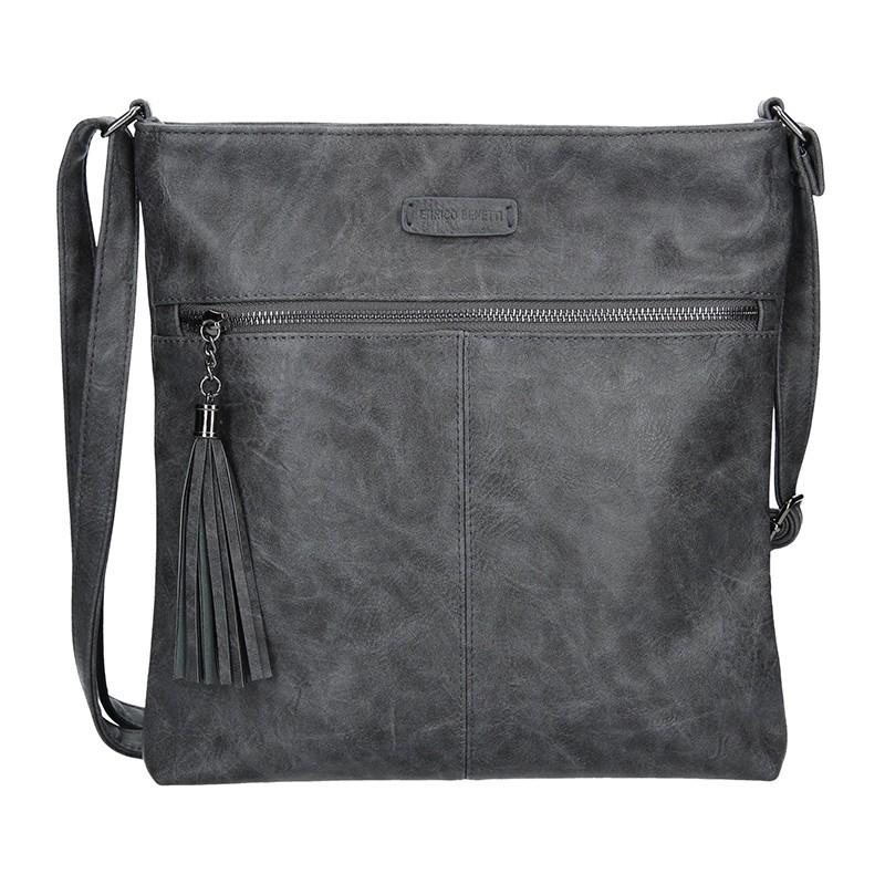 Dámská crossbody kabelka Enrico Benetti 66233 - tmavo šedá