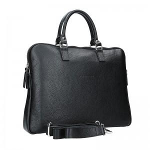 Unisex kožená taška na notebook Facebag Milano - čierna