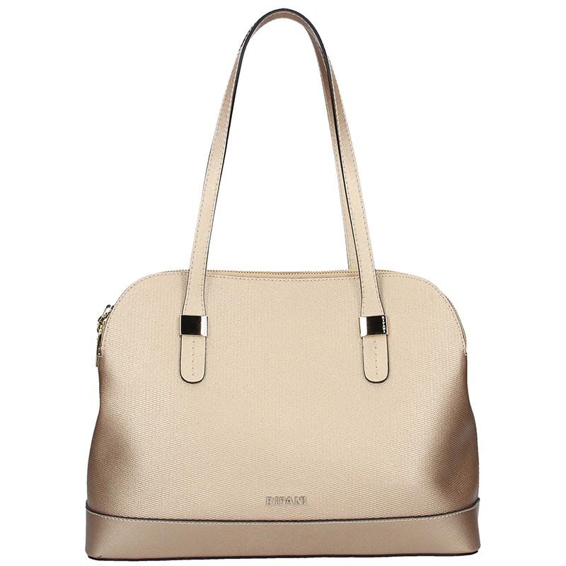 Dámska kožená kabelka Ripani Giulia - zlatá