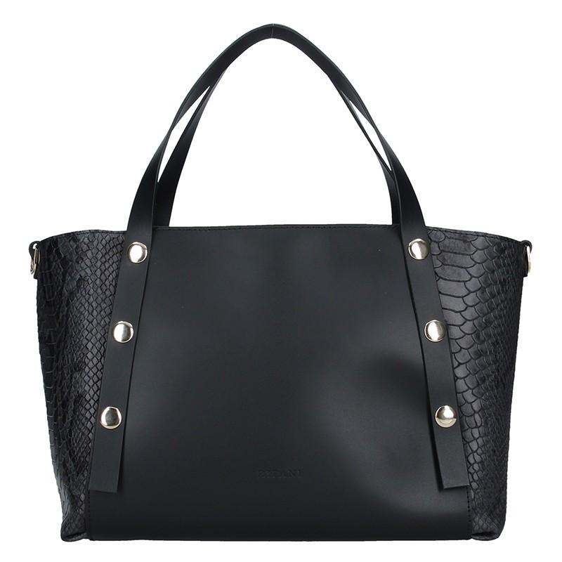 Dámska kožená kabelka Ripani Ilaria - čierna