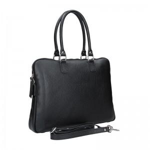 Dámska kožená taška na notebook Facebag Milanos - čierna