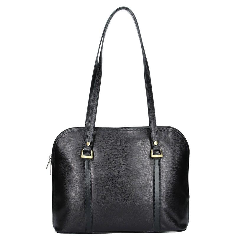 Dámska kožená kabelka Hexagona Vonela - čierna