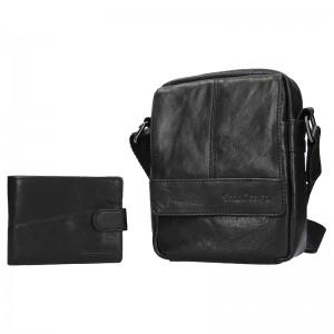 Pánska kožená taška cez rameno SendiDesign Petrson - čierna