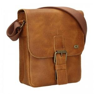 Pánska kožená taška Daag Mario - svetlo hnedá