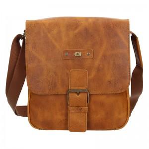 Pánska kožená taška Daag Benn - svetlo hnedá
