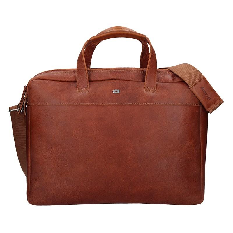 Luxusná pánska kožená taška Daag Bendr - hnedá